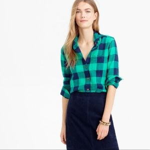 "JCrew Emerald ""Boy Shirt"""